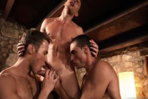 attractive homo double penetration And cumshot