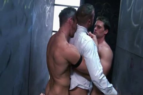 Muscle gay three-some And Facial
