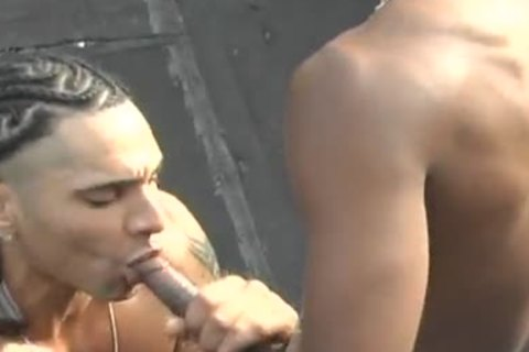 darksome homo Rooftop Sex With Rico And Duke