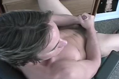 A lad Exposing His penis And Pumping It