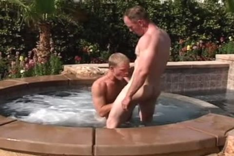 bushy hunks acquire it on by the pool