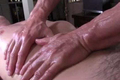 GayRoom daddy masseur rubs and probes palpitating cock youngster - painfully sex movie - Tube8.com