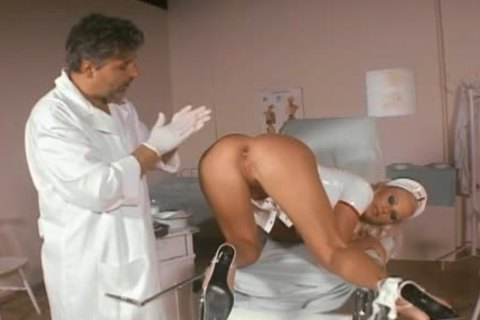 Smoking juicy nurse anal-drilled