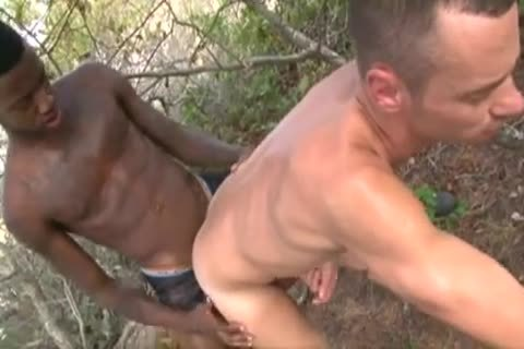 Interracial unprotected large darksome 10-Pounder