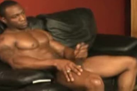 bawdy 10 Inch dark Muscle God Shows And Jacksoff