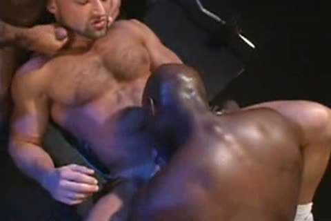 Interracial three-some