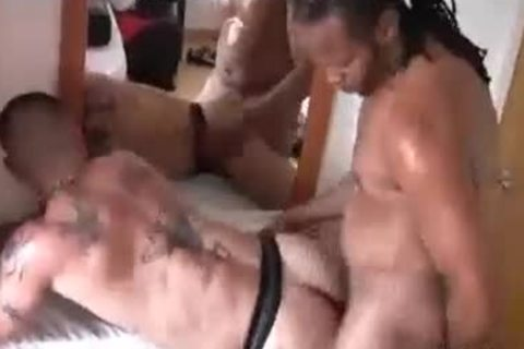Castro ploughs Tattooed daddy Hunk