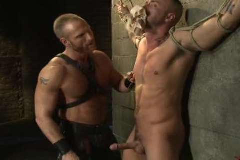 fastened Up homo twink receives nailed By delightsome Leather Daddy