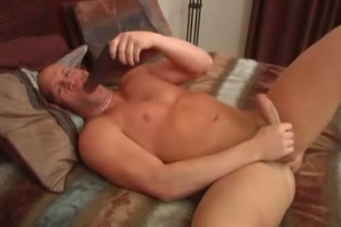 Randy boyfrend Masturbates & Plays With biggest dildo