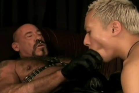 amoral Leather Daddy Subdues pussy lad