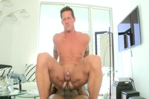 Izzy In White lad Ridding A biggest darksome penis
