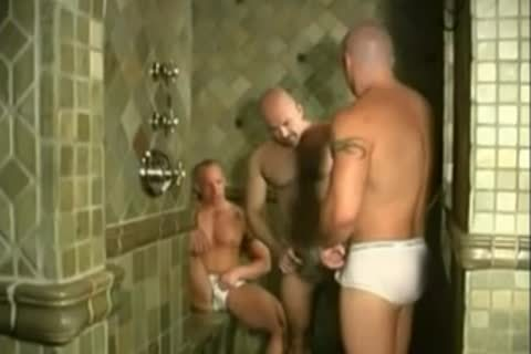 Shower three-some
