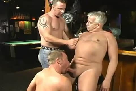 lusty Daddy And Two Younger men