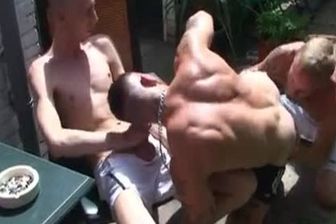 lovely raw three Way In The Backyard