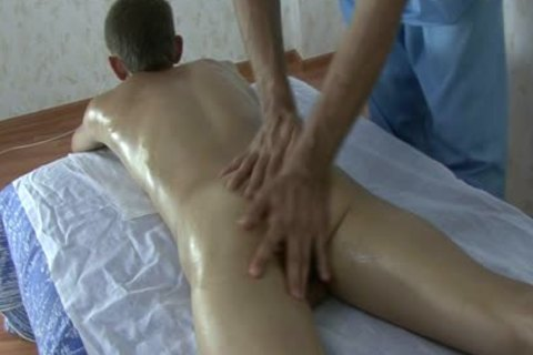 juvenile skinny Russian Teenboy - bushy pecker - Oil Massage!
