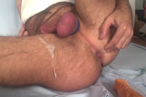 Showing My Freshly bald Balls And aperture whilst Playing With My wazoo Beads And 8-inch fake cock. Great semen discharged All Over My bushy Legs At The End