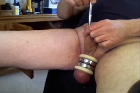 "Doing Some Sounding With Three Different dildos.  First The 10MM Sound, And Then The 11MM Sound, And lastly The Urethral fake penis.  Listen For The ""chattering"" Noises As I Probe Into My Urethra.  Ends Up With A Powerful sperm flow!!"