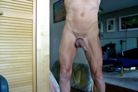 Stripping, Swinging My penis, Jerking-off And Cummin In The End