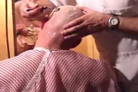 This Harder Treats His Client Well  oral pleasure job Shave Bald Sex Her Off II
