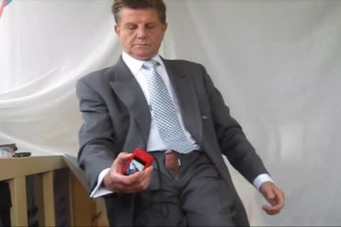 stroking IN SUIT AND TIE