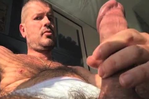 TIERY B. // PHOTO-PORNO-GRAPHER - Copyright / Climax - Masturb And Cumming Into jo-bag - nice-looking hairy guy