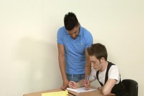 homo Students banging In The Classroom