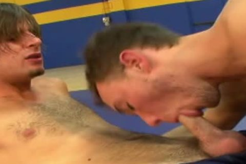 palatable homo penises pounding In The Gym