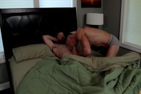 Two pumped up homo guys Sodomize Each Other.