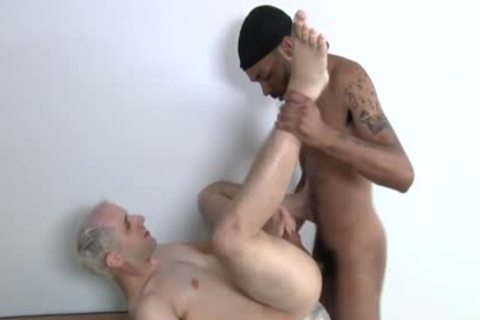 darksome 10-Pounder For A taut White homo anal