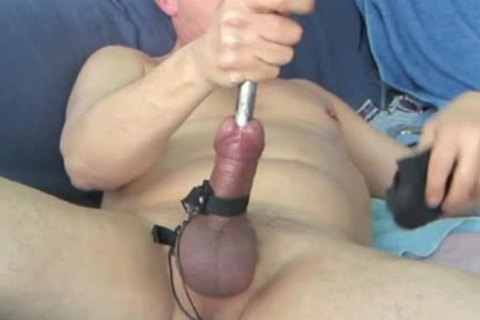 During My Second Session, When My Urethra Was A Bit Wider, I shot My Load whilst The Sound Was Still In My 10-Pounder. Using 16 And 17mm Sounds During This bdsm Masturbate Session.