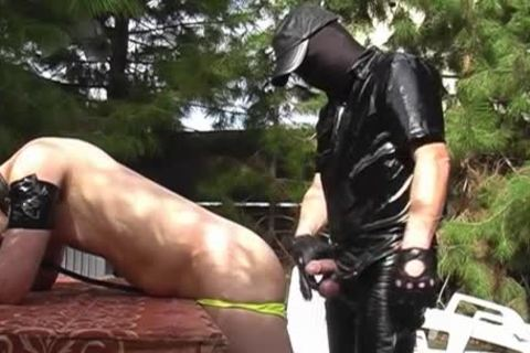 A lad Dressed In Latex Who Wants To poke