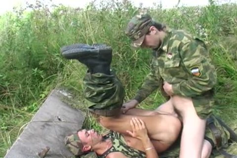 A homo Soldier Is nailed By His Boss