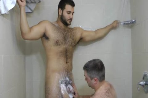Male shower porn