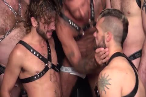 A Very Sensual fuckfest betwixt plenty of homo males