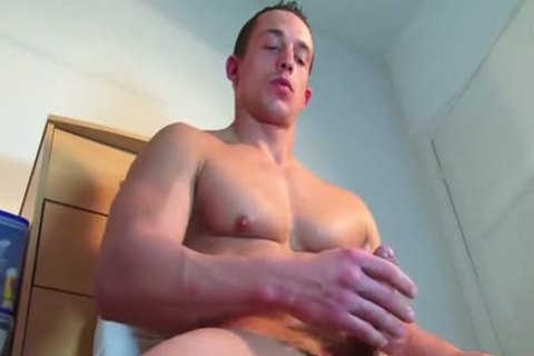 A admirable innocent str8 lad Serviced His large pecker By A lad In Spite Of Him!