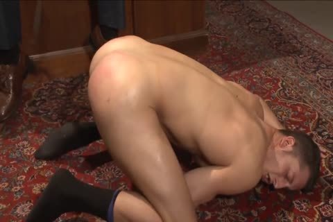 Mormon penis inspected and nailed with with bondage play