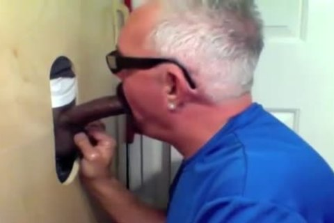 daddy chap Slobs All Over darksome cock At Glory hole