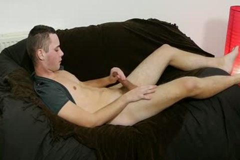 lustful twink Aiden Enjoying His Own Hard Uncut 10-Pounder At Home