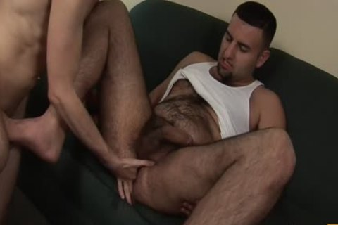 bulky Poles dripping Holes - Scene two