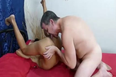 petite oriental Getting Things shoved Up His Bum.