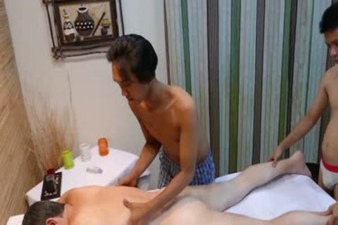 smutty guy acquires banged By Two asian guys After nasty Massage
