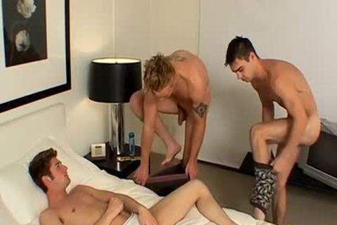 ramrod Hungry Jeremiah Sucks Two large cocks Of Mike And Zack