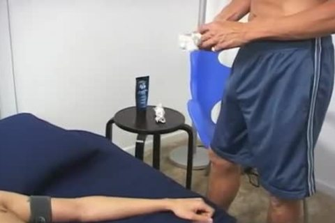 fuckfest homosexual Porn clips muscular he Shortly Starts To Chat To