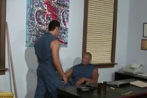 homo Cleaning boyz banging In The Office