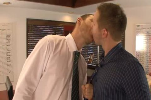 tasty homosexual males lick And Hump booties In The Office