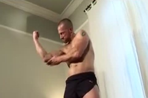 meaty Muscled Rugby daddy Solo cum