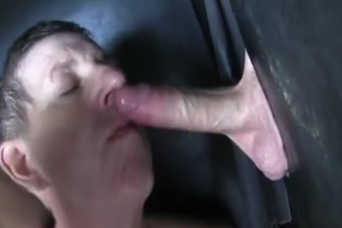 Super enormous Uncut penis straight Aussie Max acquire's Sucked Off At The Gloryhole.