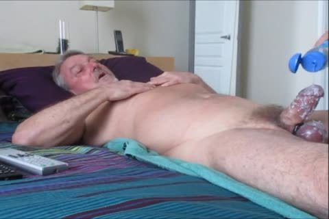 Stroking And engulfing another sexy-Waxed Wad From Farmer K.