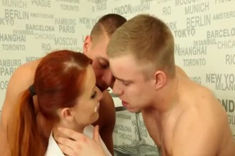 dirty bisexual guys hammering With A Redhead