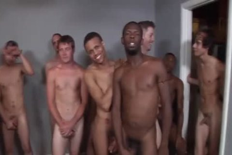 Interracial gangbang Ends With Bukkake